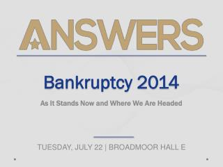 Bankruptcy 2014