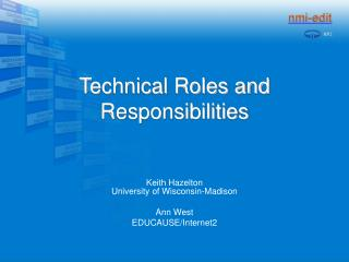 Technical Roles and Responsibilities