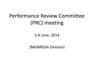 Performance Review Committee (PRC) meeting