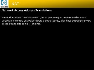 Network Access Address Translations