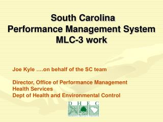 South Carolina  Performance Management System  MLC-3 work