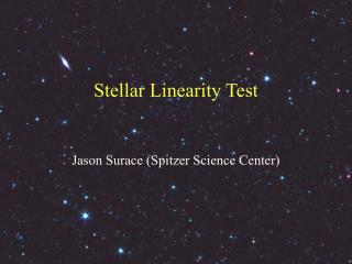 Stellar Linearity Test