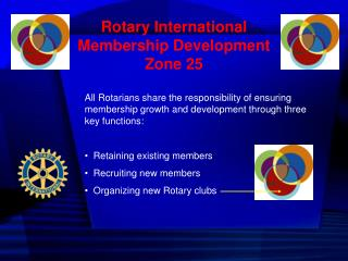 Rotary International  Membership Development Zone 25