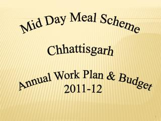 Annual Work Plan & Budget 2011-12