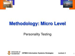 Methodology: Micro Level