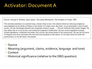 Activator: Document A