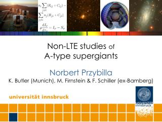 Non-LTE studies  of A-type supergiants