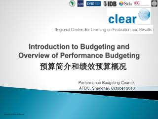 Introduction to Budgeting and Overview of Performance Budgeting