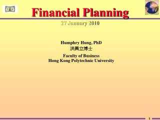 Financial Planning 27 January 2010
