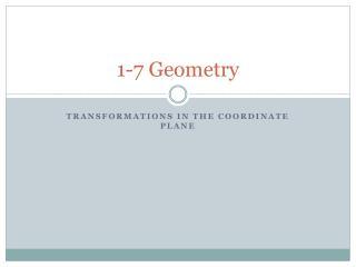 1-7 Geometry