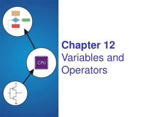 Chapter 12 Variables and Operators