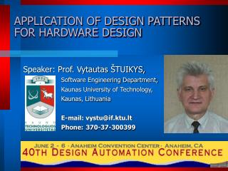 APPLICATION OF DESIGN PATTERNS FOR HARDWARE DESIGN