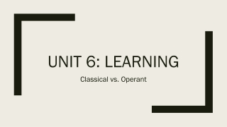 Unit 6 - Learning