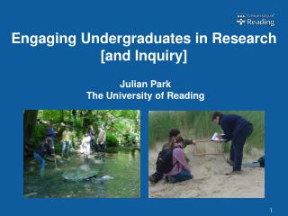 Engaging Undergraduates in Research  [and Inquiry]