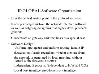 IP GLOBAL Software Organization