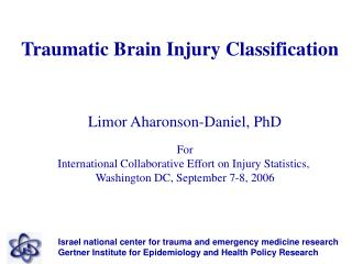 Traumatic Brain Injury Classification