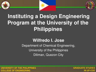 Instituting a Design Engineering Program at the University of the Philippines