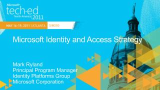 Microsoft Identity and Access Strategy