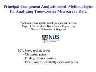 Principal Component Analysis based  Methodologies  for Analyzing Time-Course Microarray Data