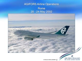 AGIFORS Airline Operations
