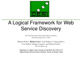 A Logical Framework for Web Service Discovery