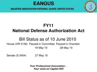 FY11  National Defense Authorization Act