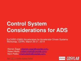 Control System Considerations for  ADS