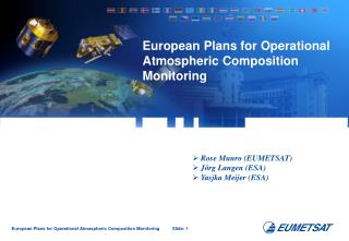 European Plans for Operational Atmospheric Composition  Monitoring