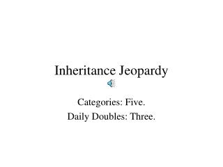 Inheritance Jeopardy
