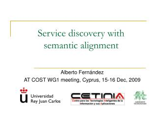 Service discovery with  semantic alignment