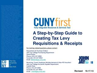 A Step-by-Step Guide to Creating Tax Levy  Requisitions & Receipts