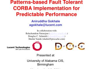 Patterns-based Fault Tolerant CORBA Implementation for Predictable Performance