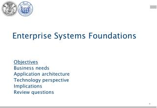 Enterprise Systems Foundations