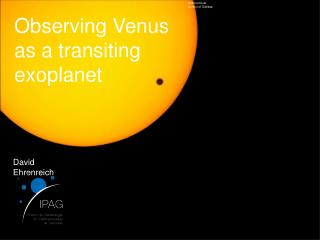 Observing Venus as a transiting  exoplanet