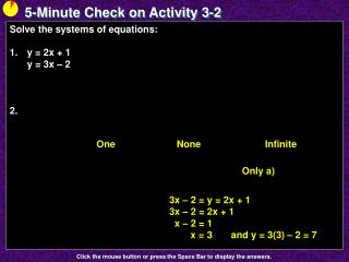 5-Minute Check on Activity  3-2