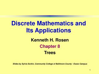 Kenneth H. Rosen Chapter 8 Trees