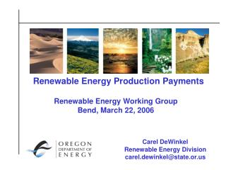 Renewable Energy Production Payments
