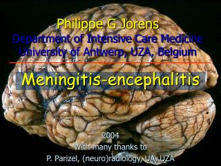 Philippe G Jorens Department of Intensive Care Medicine University of Antwerp, UZA, Belgium