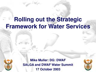 Rolling out the Strategic Framework for Water Services