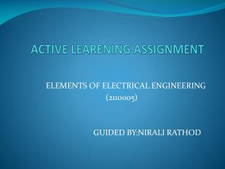 ACTIVE LEARENING ASSIGNMENT