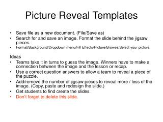 Picture Reveal Templates