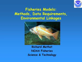 Fisheries Models: Methods, Data Requirements, Environmental Linkages