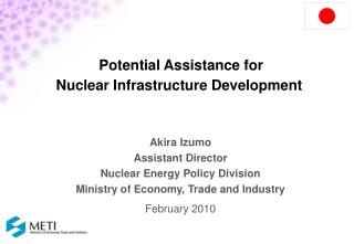 Potential Assistance for  Nuclear Infrastructure Development