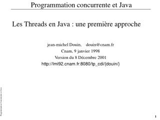 Programmation concurrente et Java