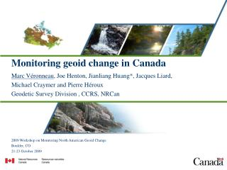 Monitoring geoid change in Canada