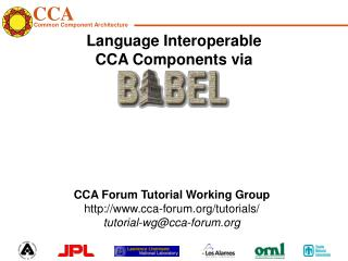 Language Interoperable  CCA Components via