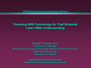 Teaching With Technology So That Students Learn With Understanding