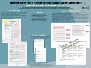 Promoting physics student reflection via Reading Logs and Learning Commentaries