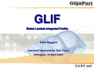 GLIF Global Lambda Integrated Facility