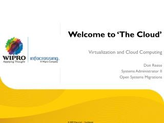 Welcome to 'The Cloud'